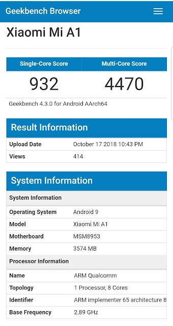 Segera! Xiaomi Mi A1 Update Android Pie