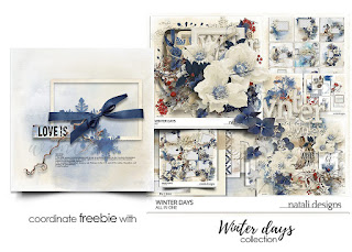 Winter days - new collectio, freebie, Black Friday sale