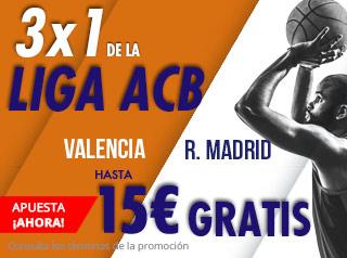 suertia promocion Liga ACB Valencia vs Real Madrid 5 octubre
