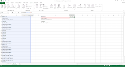 COUNTIF Function example in Excel 2013