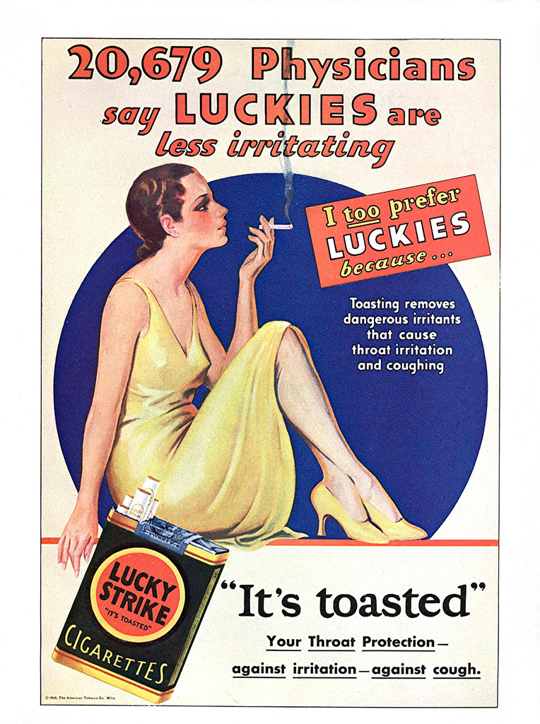 Bizarre Tobacco Advertising From 1920s 1930s Vintage