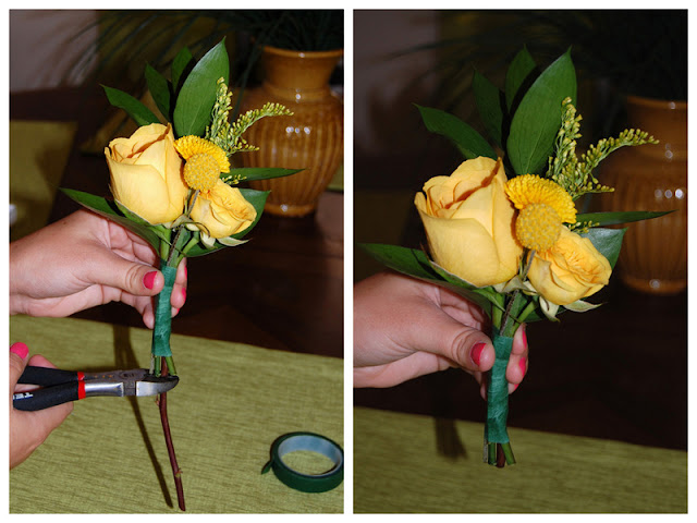 DIY wedding corsage tutorial on oh lovely day