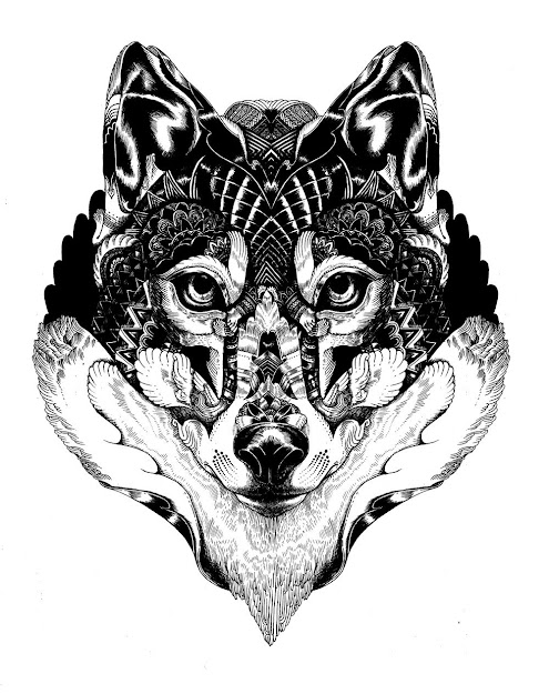 Portfolio Iain Macarthur  Digital Arts Wolf Face Coloring Page