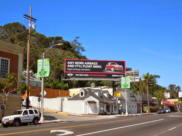New Mini more airbags billboard