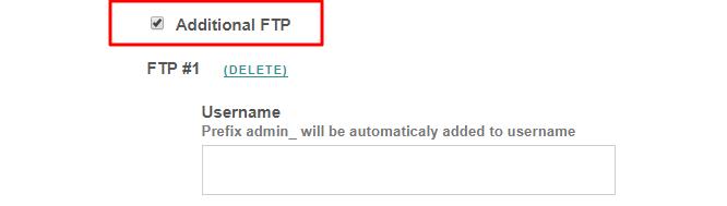 Additional FTP VestaCP