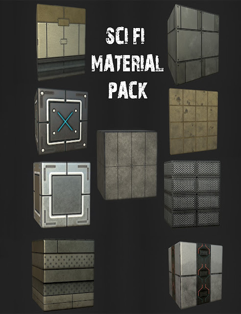Complete Sci-Fi Material and Shader Kit, Editable!