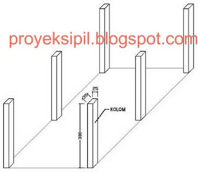 Cara Menghitung Volume Beton Kolom Balok dan Plat Lantai