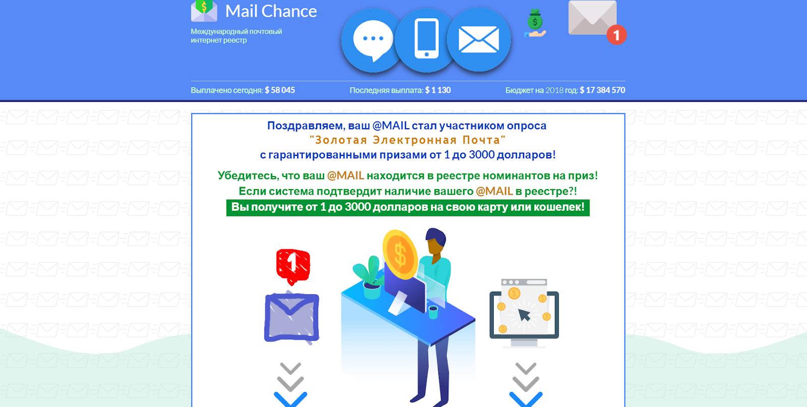 заработок в интернете по почте