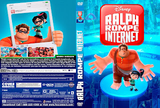 CARATULA RALPH BREAKS THE INTERNET-RALPH ROMPE INTERNET 2018 (COVER DVD)