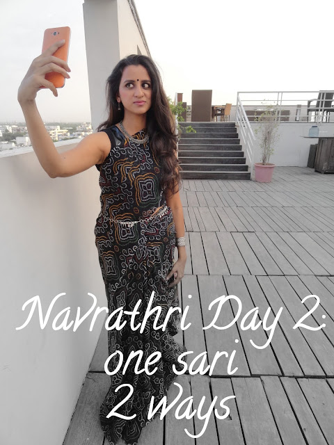 Navrathri Day 2: Styling one Sari 2 ways. image