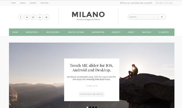 Milano Premium Template
