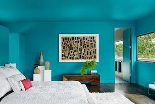 Habitación color turquesa