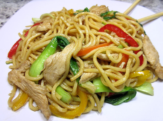 how to make chicken lo mein at home