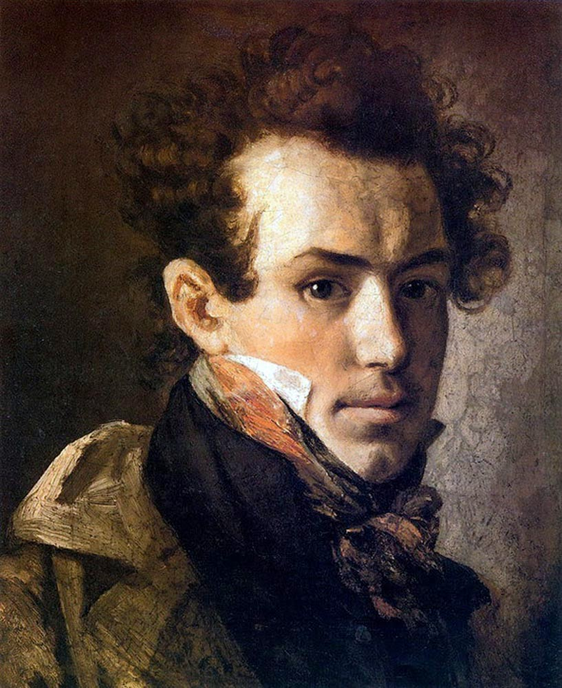 Orest Adamovich Kiprensky, Self Portrait, Portraits of Painters, Fine arts, Painter Adamovich Kiprensky