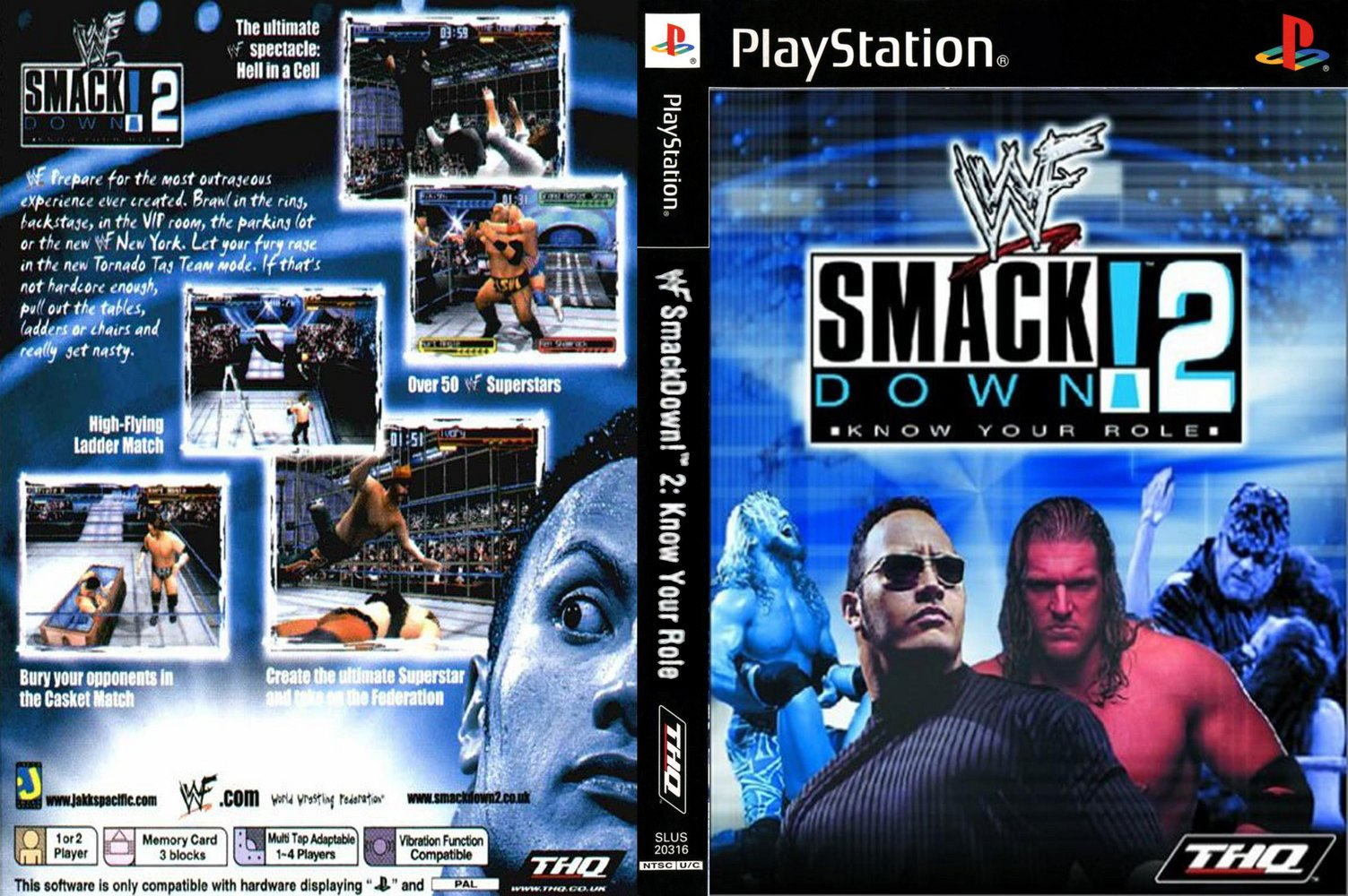 Download WWF Smack Down 2 Know Your Role Game PS 1