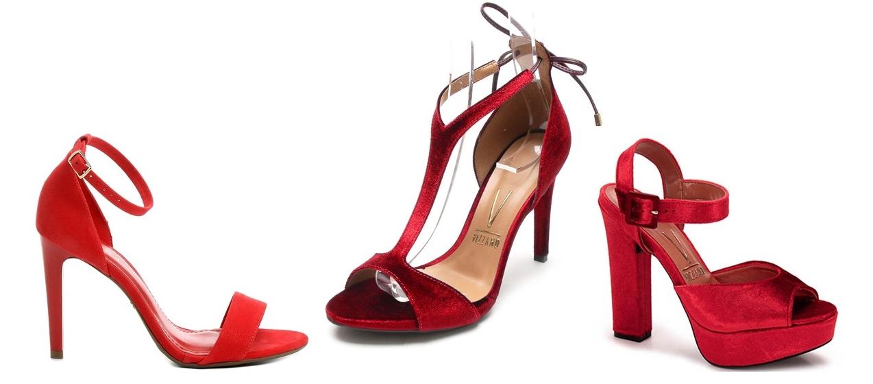 Onde comprar sandália vermelha