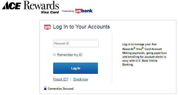 Ace hardware credit card/ rewards login