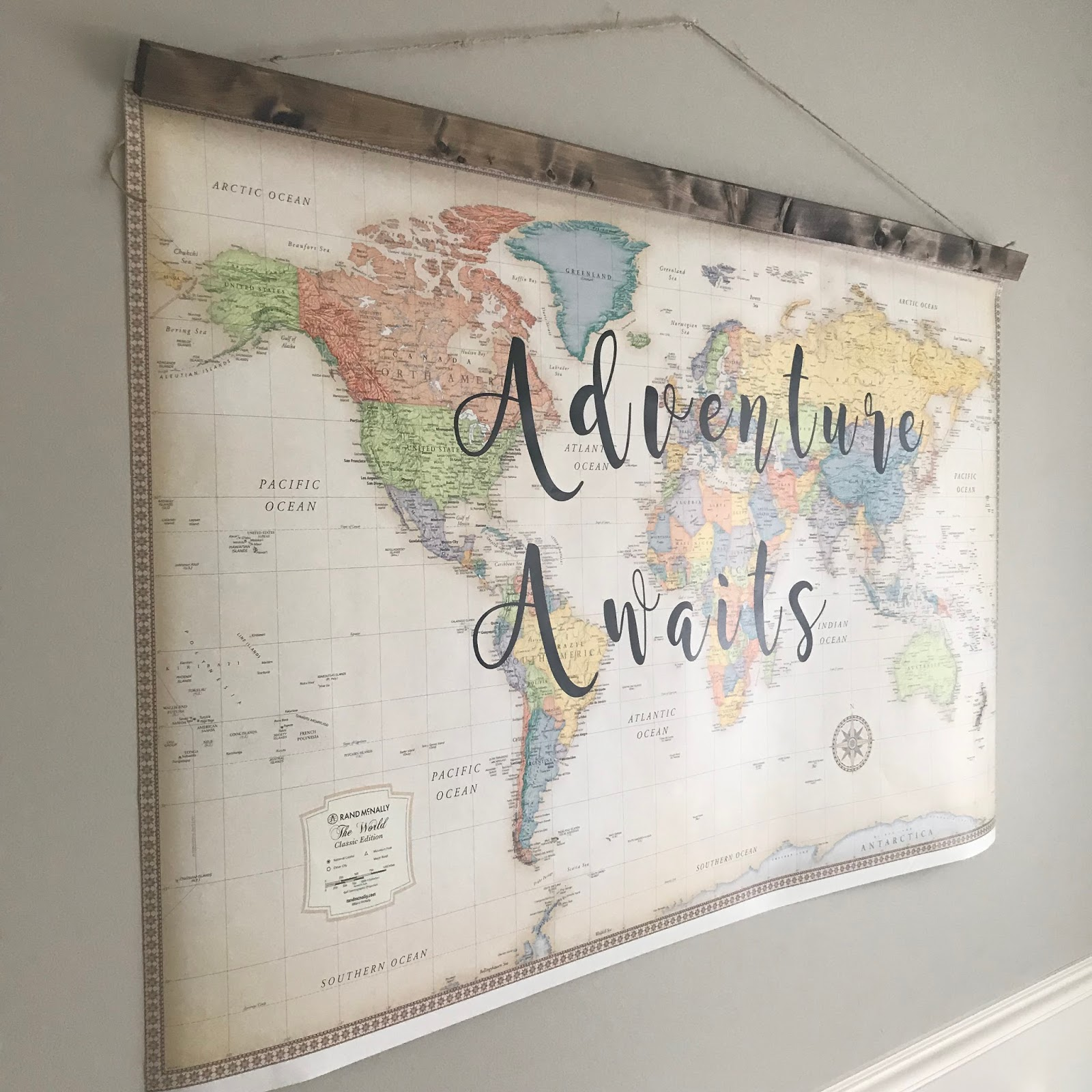 How to Make Custom Map Art | R&R at home