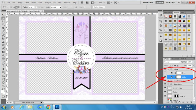 Wedding photobooth template violet