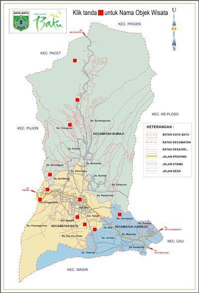 Peta Wilayah Pemerintahan Kota Batu