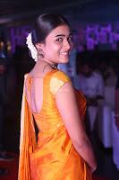 Shalini Pandey in Beautiful Orange Saree Sleeveless Blouse Choli ~  Exclusive Celebrities Galleries 012.JPG