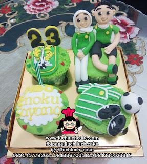 Cupcake Tema Bola Klub Persebaya