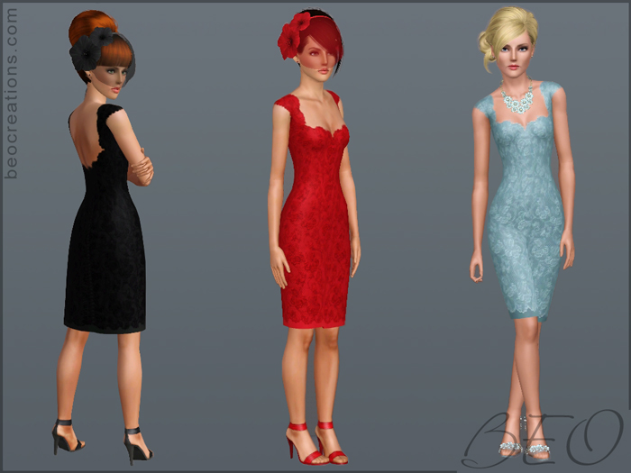 My Sims 3 Blog: Lace Bridal Dress By BEO Creations