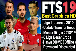 Download FTS 19 Mod Gojek Liga 1 Indonesia Update Club Promosi 2019