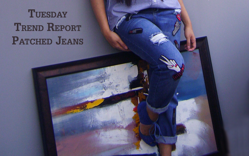 Patched Jeans Trend