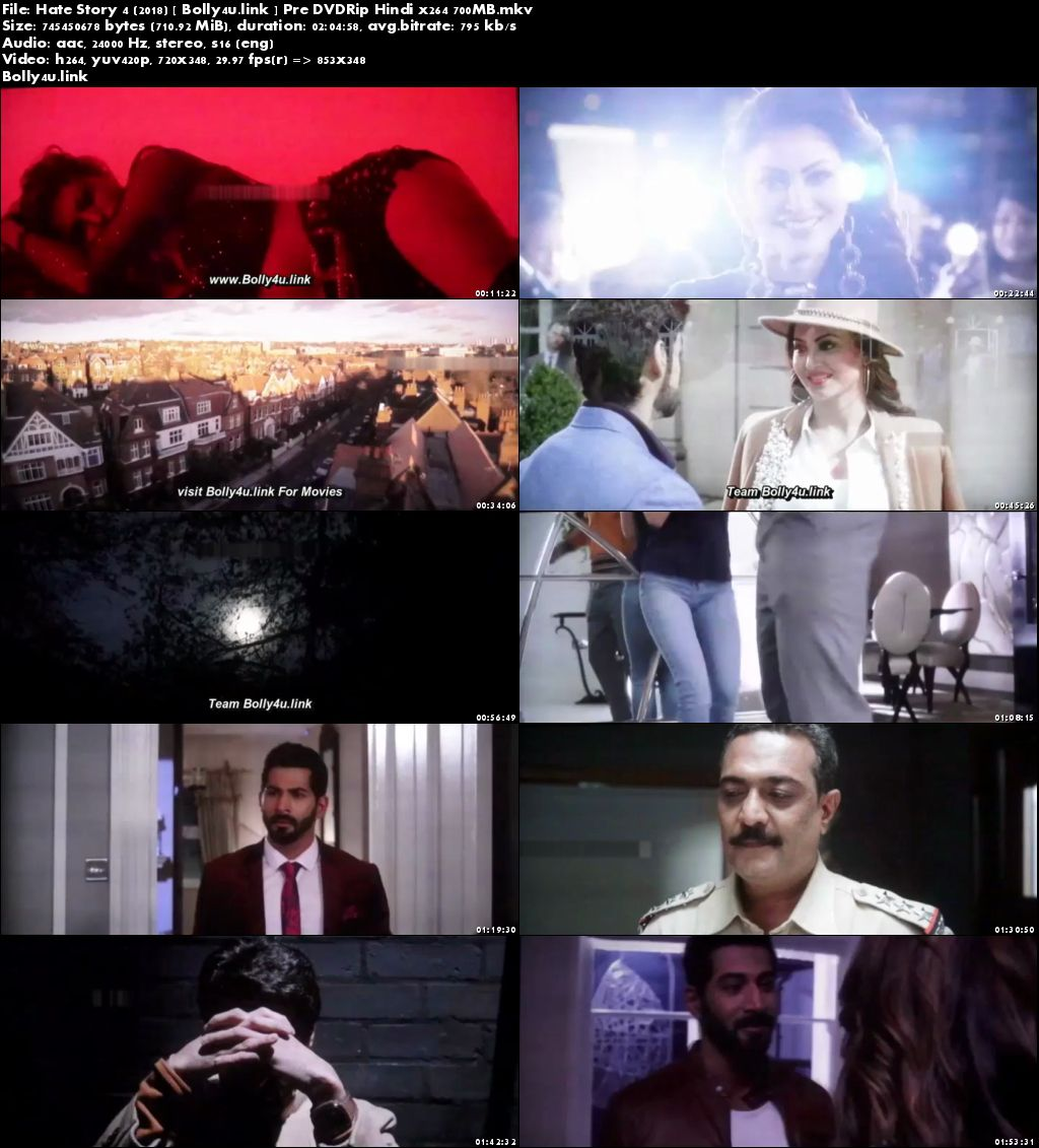 Hate Story 4 2018 Pre DVDRip 350MB Full Hindi Movie Download 480p