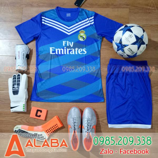 Áo Real 2019 Training màu xanh
