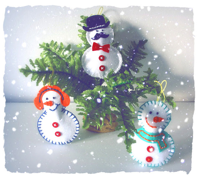Snowmen Felt Decorations
