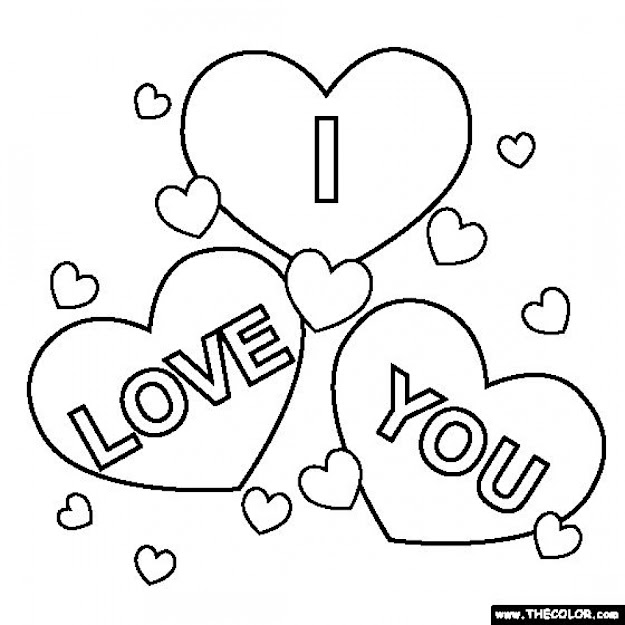 Free Love You Coloring Pages For Kids Yyl