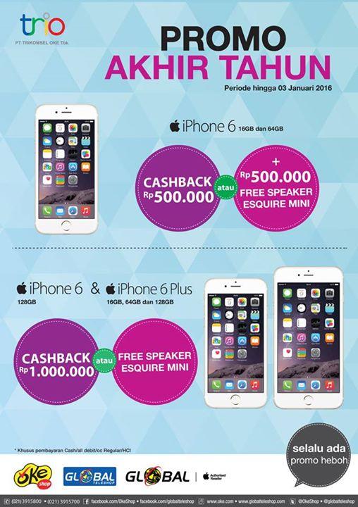 Promo Akhir Tahun iPhone 6 di Global Teleshop dan OkeShop f7b5c5e147