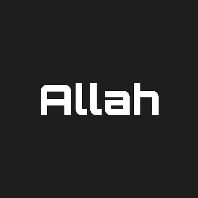 Allah english font