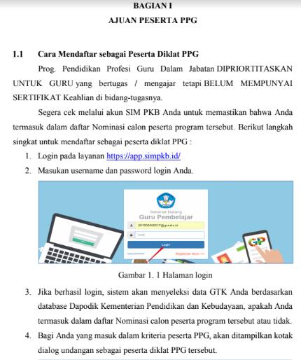 gambar cara daftar PPG di SIM PKB