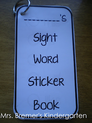Sight word sticker books are a great tool for helping keep track of words that have been mastered and words to work on- a great motivator!