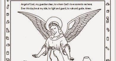 Drawn2BCreative: Free Guardian Angel Coloring Page