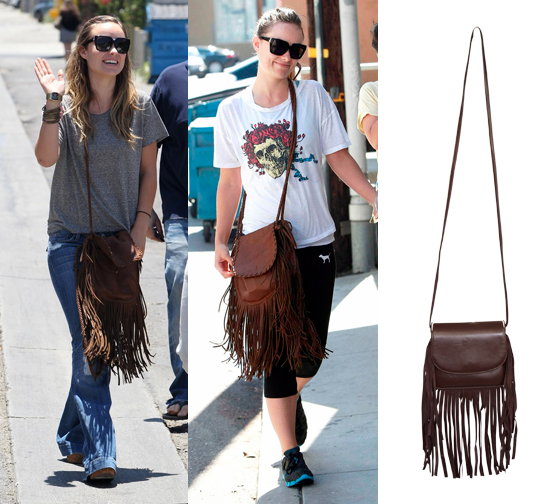 Steal This Look: Olivia Wilde Fringe Cross Body Bag