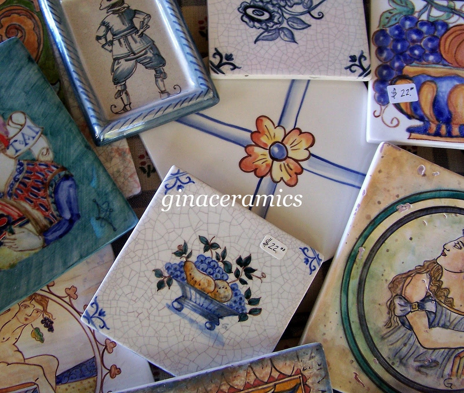 Art and Alfalfa Hand Painted ceramic tiles are back