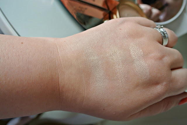 Too Faced Candlelight Glow Highlighter in Warm Glow swatches