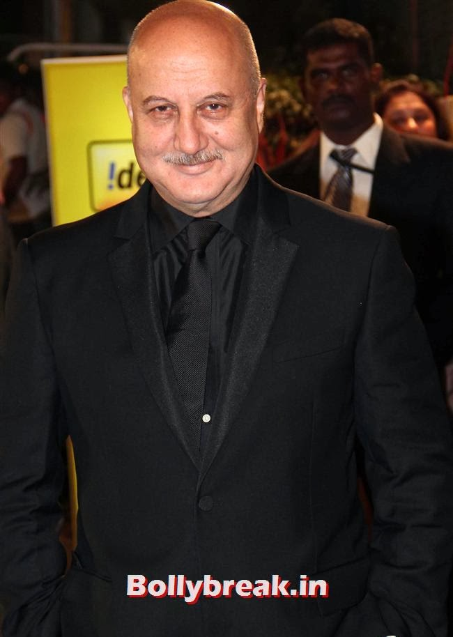 Anupam Kher, Filmfare Awards 2014 Red carpet Images