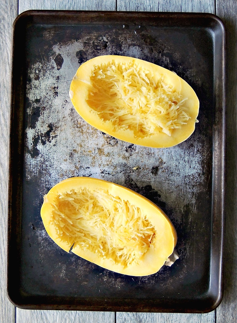 Herbed Spaghetti Squash with Garlic and Parmesan is a perfect side dish, or meatless Monday meal from www.bobbiskozykitchen.com
