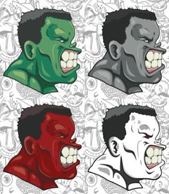 "Hulk ""No Need for Alarm"" Marvel Screen Print by Hebru Brantley x Line Dot Editions"