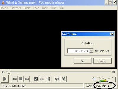 Go to Time option in VLC media player