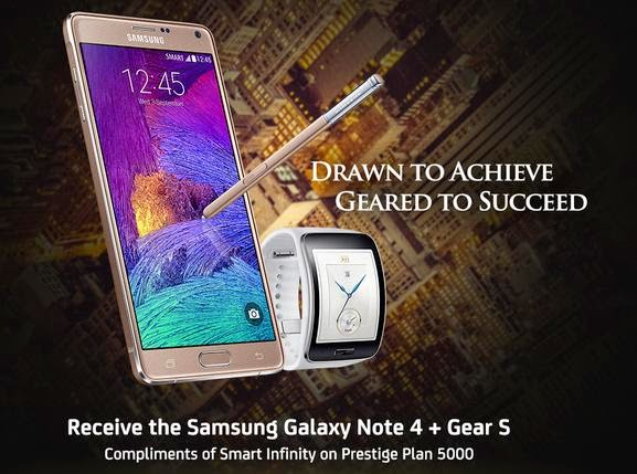 Get Two Units of Samsung Galaxy Note 4 for FREE at Smart Infinity Plan