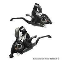 Shimano EZ-Fire atau Shimano Rapidfire Shift-Brake Lever