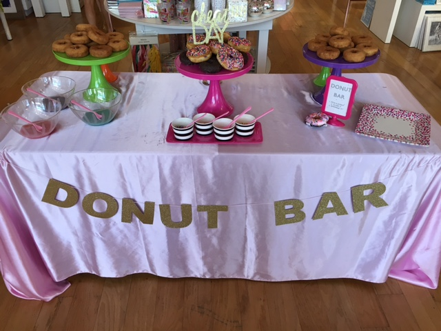 DIY: Interactive Donut Bar for a Party by popular party blogger The Celebration Stylist