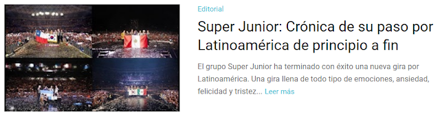 Editorial Super Junior: Crónica de su paso por Latinoamérica de principio a fin