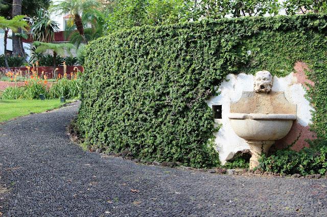a detail in Quinta das Cruzes gardens